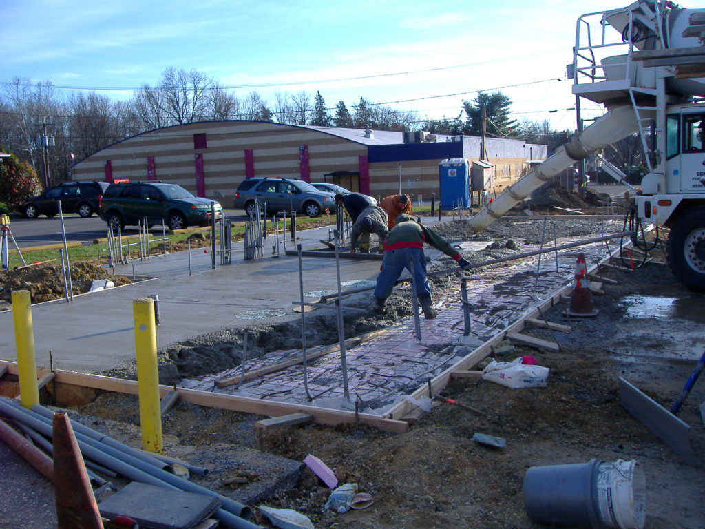 A commercial construction project on a gas station - commercial construction contracting